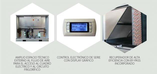 LMF HPS Recuperacion de calor con Circuito frigorífico integrado