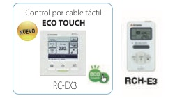 Split conductos Inverter Bomba de calor control por cable