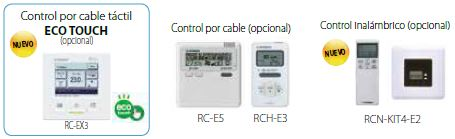 mhi Unidades interiores KX Split Conductos Alta Presión FDU conductos mandos