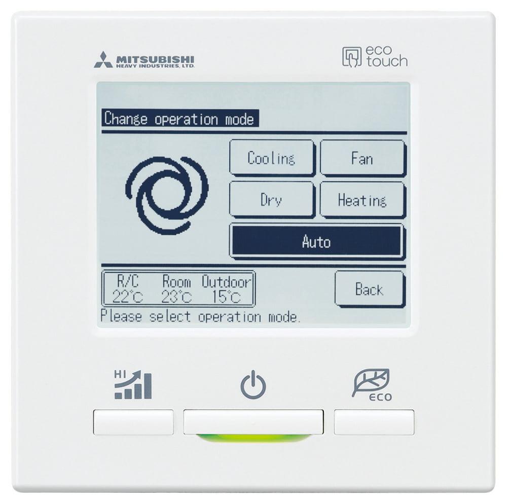 mhi control remoto pantalla configuracion cambio de modo